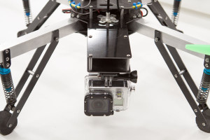 Hard camera mounts such as this one on the Next Level quad copter will require some post-processing work to stabilize the finished video.