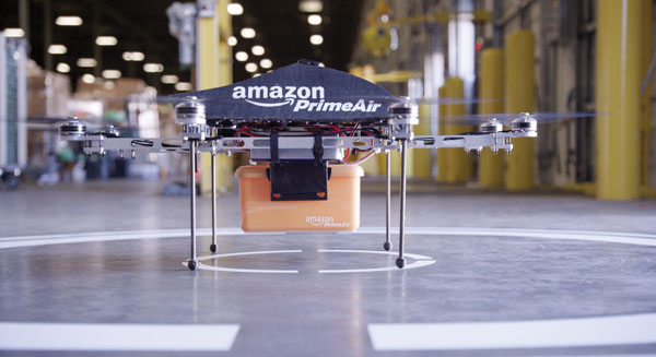 Feeling grounded: Amazon's much-heralded Prime Air project will need years of testing and development in real-world conditions, but the company is known to aggressively attack new opportunities.