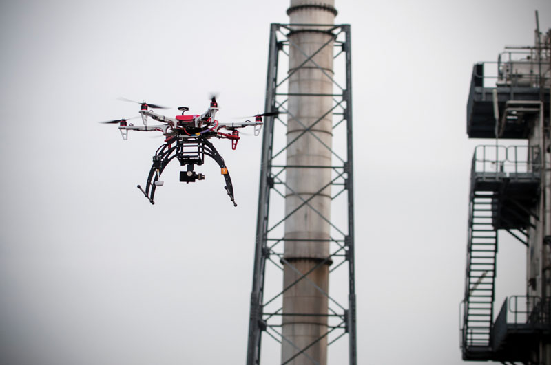 Inspecting tall structures like bridges and oil rigs is easier and faster with camera-equipped multirotors than using manpower.