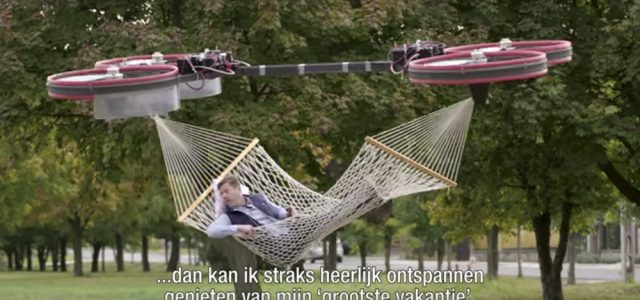How the Dutch hang a hammock…