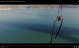 Extreme aerial dance, filmed by a drone