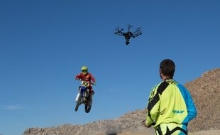 Shooting Motocross with a Drone