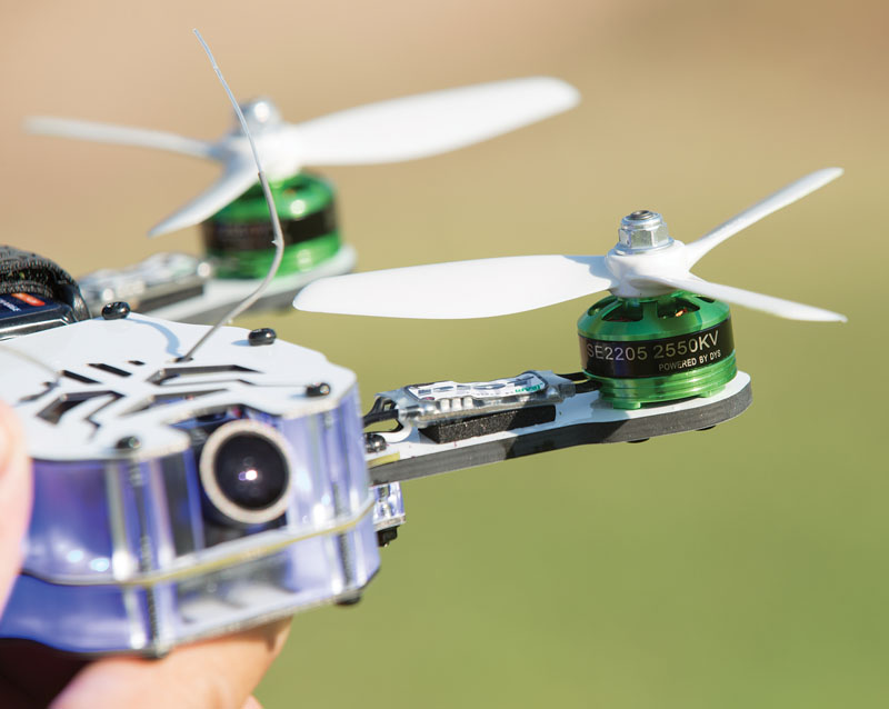 Drone Reviews: Thrust UAV Riot 250R Pro - motor and speed control