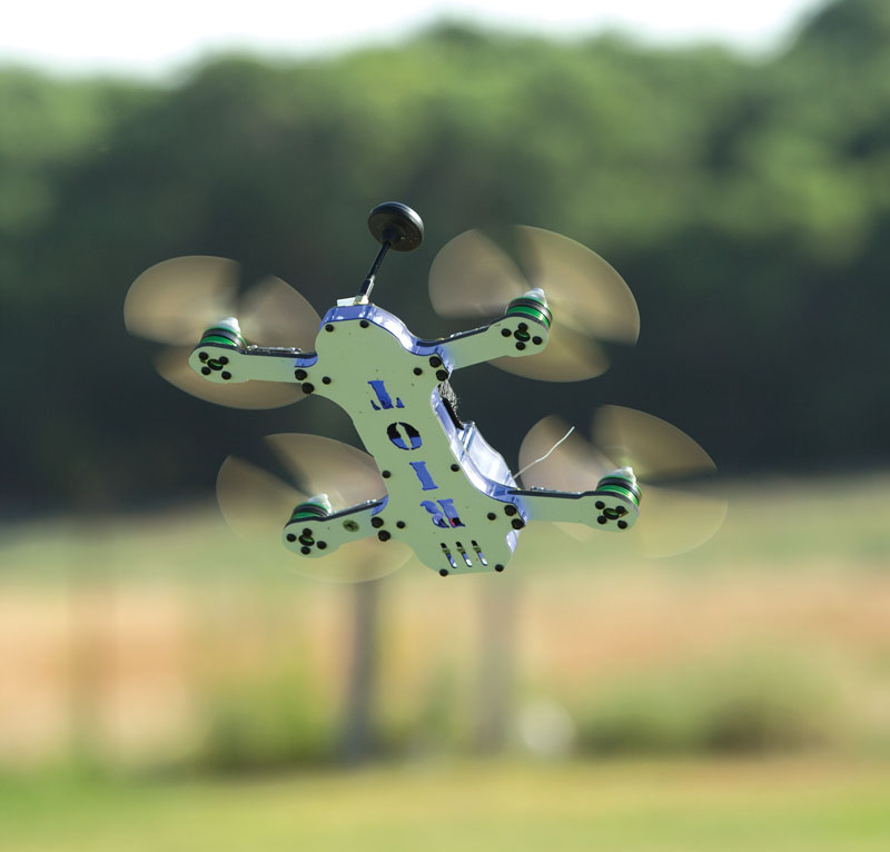 Drone Review: Thrust UAV Riot 250R Pro - hovering