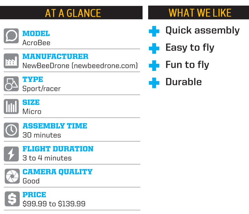 Drone Reviews: NewBeeDrone AcroBee - at a glance