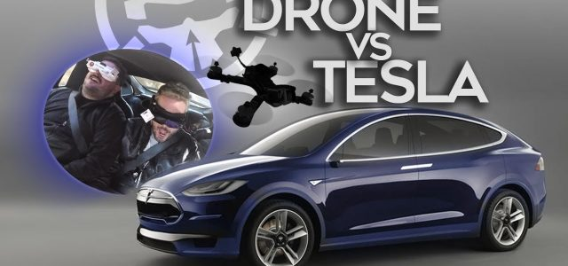 Drone Fun: What's Faster, a Drone or a Tesla?