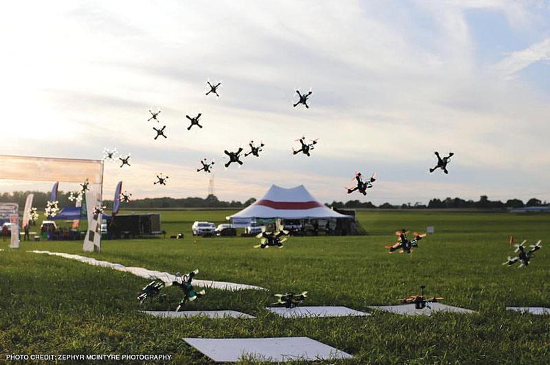 Drone Racing MultiGP - racing field