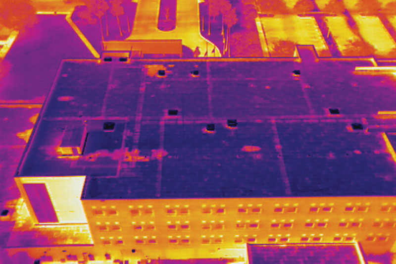 Drone technology at work - thermal image