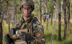 Australian Army soldier Trooper Sam Menzies deploys a PD-100 Black Hornet Nano unmanned aircraft vehicle during training exercise at Shoalwater Bay Training Area, Queensland, on 4 May 2018.