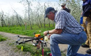 Drones Pollinate Apple Trees